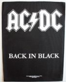 AC/DC - 'Back in Black' Giant Backpatch